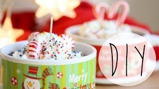 DIY Holiday Hot Cocoa Candles {Xmas Gift Idea}