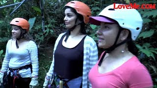 Latina Women Zipline Through The Costa Rican Jungle