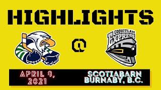 HIGHLIGHTS: Surrey Eagles @ Coquitlam Express – April 8th, 2021