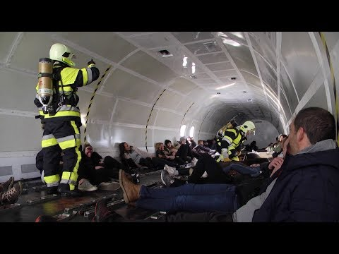 VIDÉO. Simulation de crash d'avion à Ajaccio pour un exercice grandeur nature