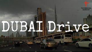 Driving Through Dubai | Awesome Weather & Raining