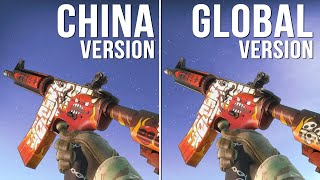 CS:GO - China Version vs Global Version Weapon Skins (Part 04) [Comparison]