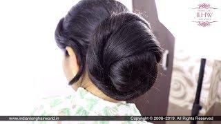 Sensational & Elegant Knot Bun By Male Hair Dresser With Purnima's Knee Length Healthy Silky Hair