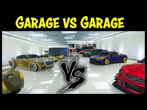 GTA 5 Online GARAGE Vs GARAGE EP. 16 GOLD EDITION! (Best Cars Competition)