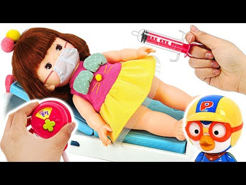 She's got a cold! Go to the hospital with Pororo! #PinkyPopTOY