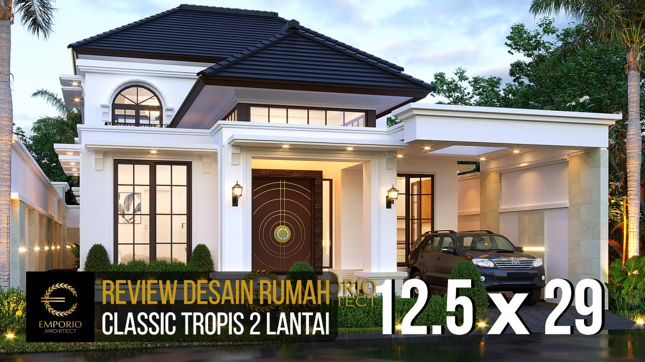 Video 3D Mrs. Joanne Classic House 2 Floors Design - Yogyakarta