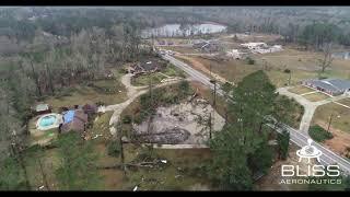 Bliss Aeronautics records aerial video of storm damage in Pine Belt