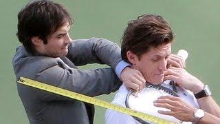 """Нина Добрев и Йен Сомерхолдер, Ian Somerhalder Kicks Butt in NEW Movie """"Time Framed"""""""