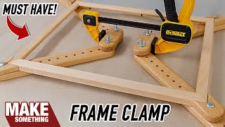Glue Up Picture Frames Quick and Easy with this Simple Clamp Jig