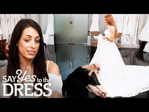 Bride Has Her Hem Snipped During The Fitting | Say Yes To The Dress UK