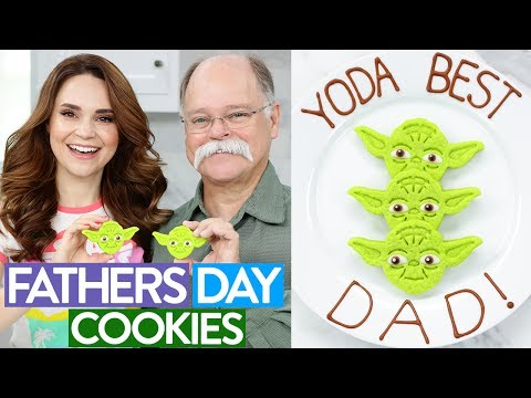 DIY FATHERS DAY YODA COOKIES