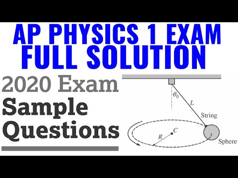 AP Physics 1 - 2020 Exam Sample Questions Full Solution - YouTube
