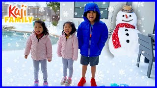 Crazy Snow Day with Ryan Emma and Kate!!