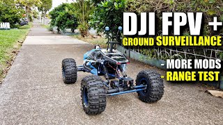 DJI Digital FPV+ 50mbps Ground Surveillance Range Test on RC Rock Crawler + MORE MODS!