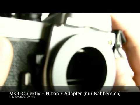 M39 Objektiv Nikon F Adapter nur Nahbereich - by enjoyyourcamera.com