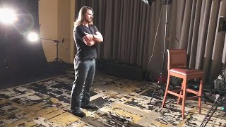 AJ Styles takes some portrait footage for his upcoming WWE 365 special: SummerSlam Diary