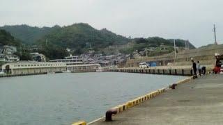 鳥取県の田後港で昼ごはん釣り