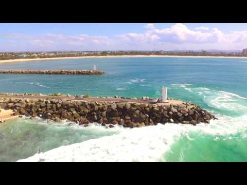 Point Cartwright surf from the air