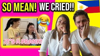 FOREIGNERS React To FILIPINO Humor - Tongue Prank By Alex Gonzaga
