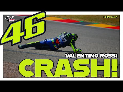 Valentino Rossi crashes during Q1 | MotoGP™#GermanGP 2019