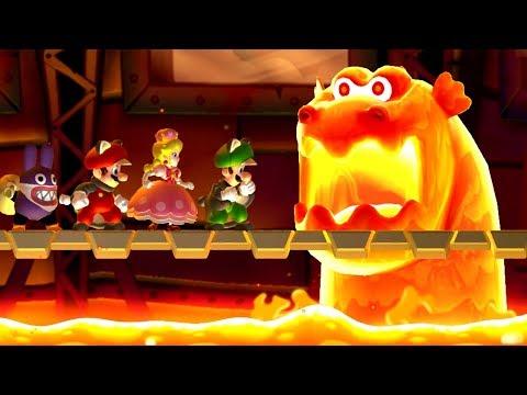 New Super Mario Bros  U Deluxe - All Castle Bosses | Youtube