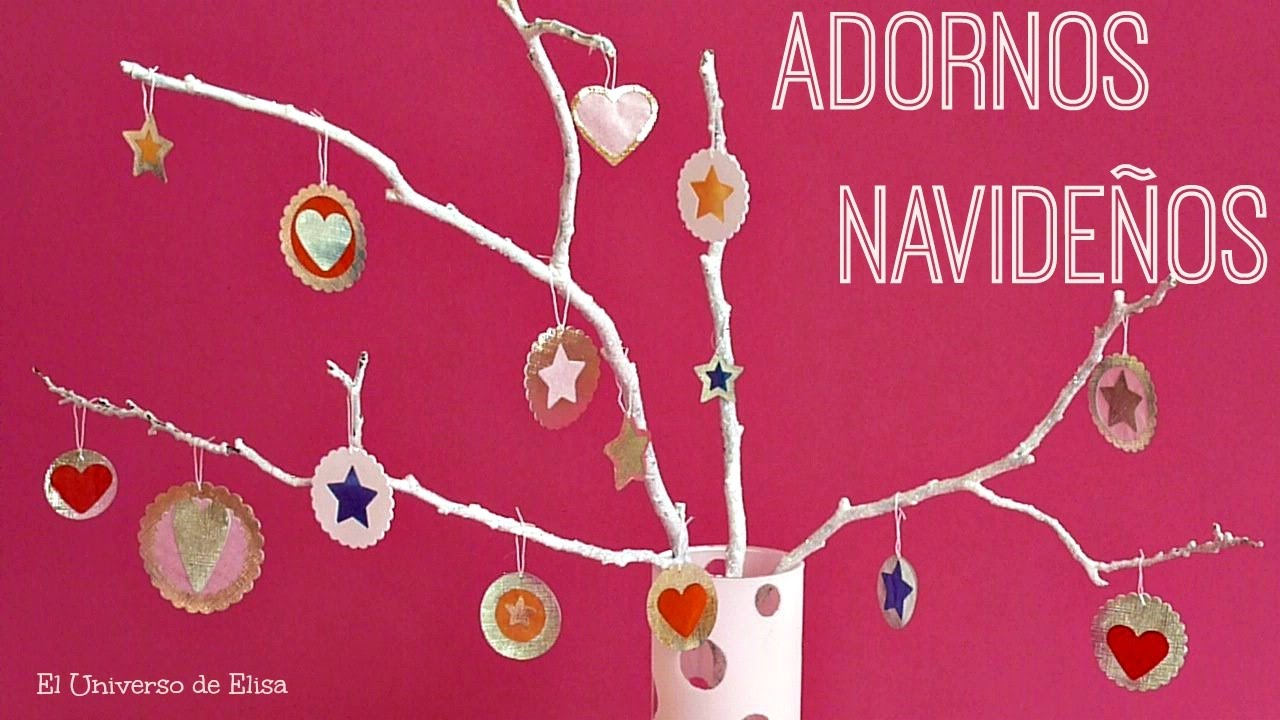 Manualidades para Navidad, Decoración para Navidad, Adornos Navideños para el Árbol de Navidad
