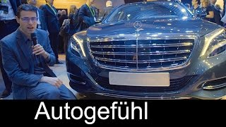 Mercedes-Maybach S500 review CES Fit & Healthy concept Sound Massage - Autogefühl