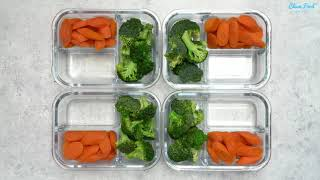 Steamed Veggie Snack Packs For Healthy Clean Eats On The Go! - Clean Eating Meal Prep Recipe
