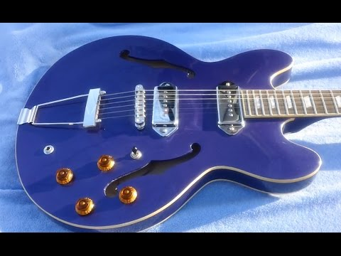 Metallic blue epiphone casino guitar hutchinson casino