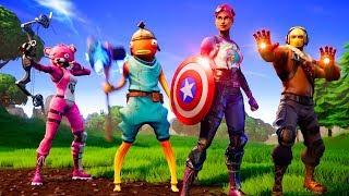 Jugando **nuevo** Avengers X Fortnite