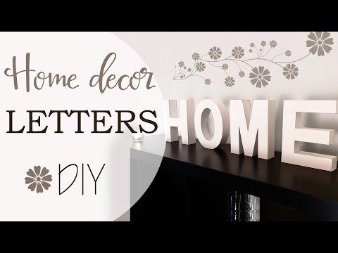 Lettere in 3D fai da te - Home decor 3D Letters DIY