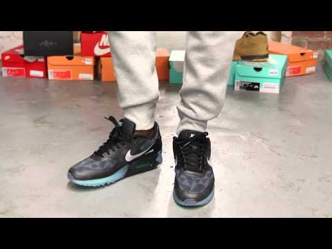 """Nike Air Max 90 ICE QS """"Black/ Cool Grey/ Blue"""" On-feet Video at Exclucity"""