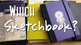 How to Choose a Sketchbook: Which Sketchbook to Buy/Best for Markers, Mixed Media and Watercolors