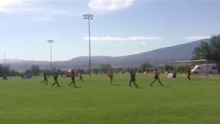 Bending shot confuses goalkeeper