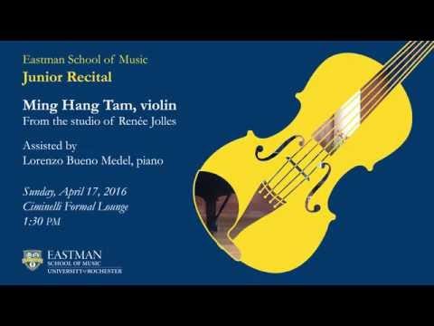 Ming-hang Tam - Bach Ciaccona from Violin Partita No. 2 in D Minor, BWV 1004 (1720)