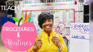 Classroom Management: Procedures And Routines
