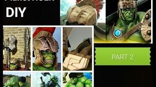 DIY Planet Hulk part 2: Tutorial on Making the Hulk Gladiator Helmet.