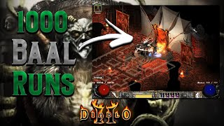 1000 Baal Runs - Diablo 2 - The ultimate troll drop and 1 new grail item!!