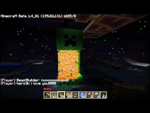 minecraft server fun: BURN creeper BURN