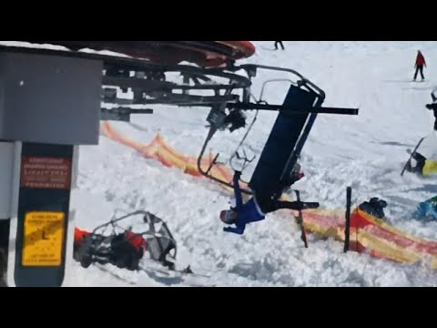 Watch Out-Of-Control Ski Lift Send People Flying