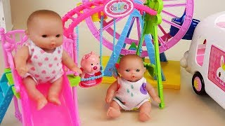 Baby doll amusement park and sand play ground play