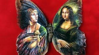 فنان يرسم لوحات عالمية على أجنحة الفراشات