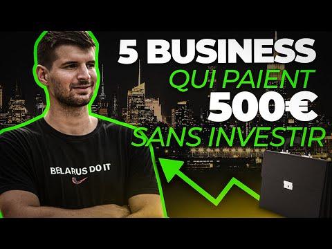 5 Business En Ligne Qui Paient 500€/mois SANS INVESTIR 5 Business En Ligne Qui Paient 500€/mois SANS INVESTIR