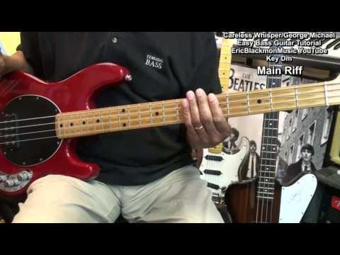 Careless Whisper Bass Guitar Lesson George Michael FunkGuitarGuru Funk