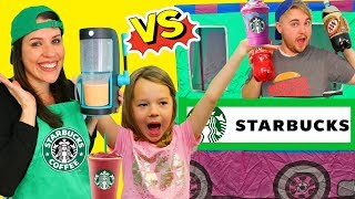Pretend Play Restaurant Starbucks Vs Soda Burger King Food Truck