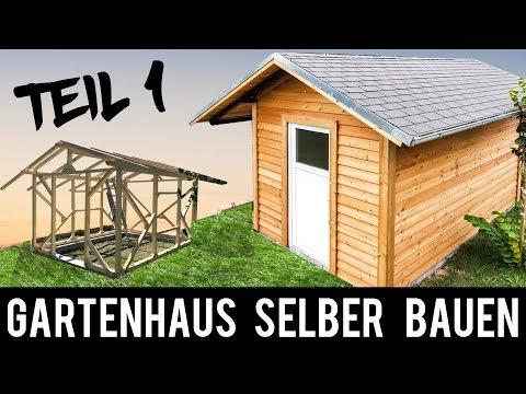 (1/4) 🔥 Gartenhaus 🔥 SELBER BAUEN - ANLEITUNG Schritt für Schritt (Gartenhütte, Holzhütte)