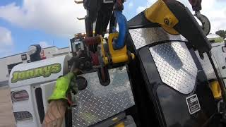 Rotator work ep #195  loading a Pete and hooking the trailer