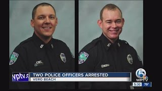 Two police officers arrested