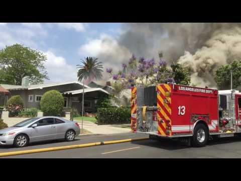House Exploded; Resultant House Fires ~ Koreatown Los Angeles ~ 2016