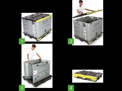 HEXAPAK FOLDABLE CONTAINER SYSTEM